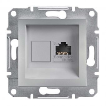 Розетка компьютерная RJ45 кат.5е UTP Asfora,  (цвет алюминий) Schneider Electric EPH4300161