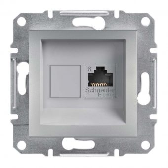 Розетка компьютерная 1-я RJ45 кат.6/UTP«Asfora», (цвет алюминий) Schneider Electric EPH4700161
