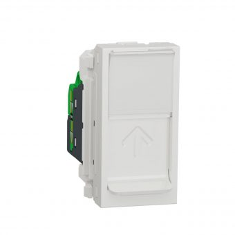 Розетка комп. 1-а., RJ45, кат.6 UTP, 1-мод., Schneider Electric Unica New NU341418, Білий