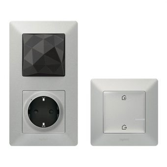 Стартовый Smart комплект умного дома Legrand Valena Life with NETATMO 752396, алюминий